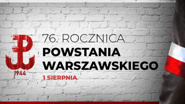 76 rocznica wybuchu Powstania Warszawskiego